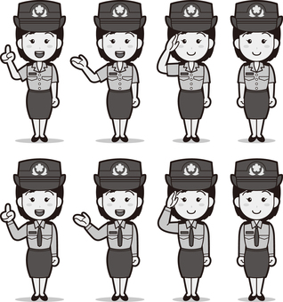 Self-Defense Force 1 (Women's Ground Self Defense Force) B & W