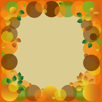Autumn color frame 3
