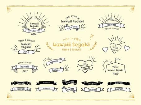 Postcard ribbon frame set