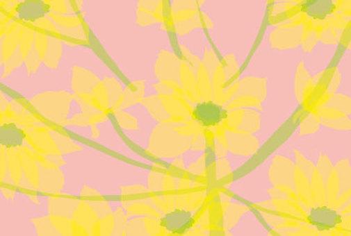 Wildflower floral print Wallpaper