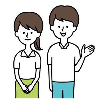 Short sleeved men and women