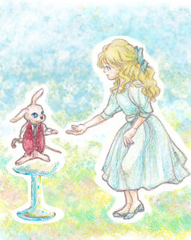 Alice and a rabbit