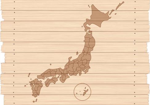 Japan Map Map Tree Wood Grain Natural