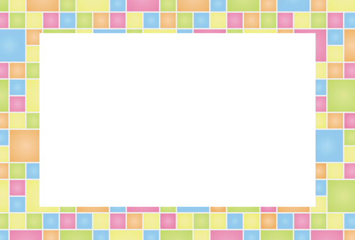 Square colorful frame