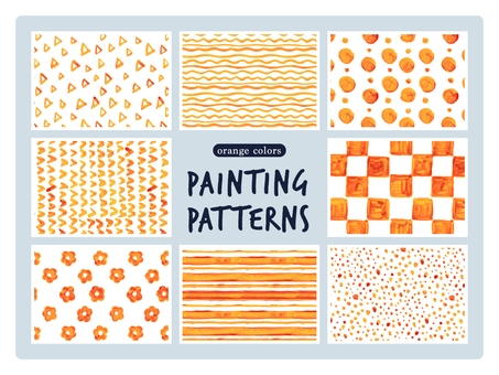 Orange's hand-drawn pattern