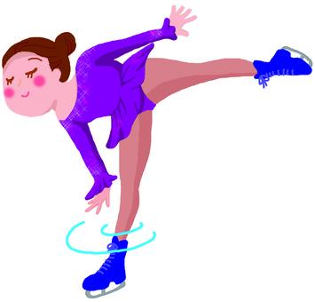 피겨 스케이팅을하는 여성