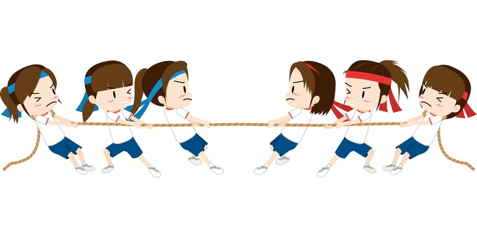 Tug of war (girls)