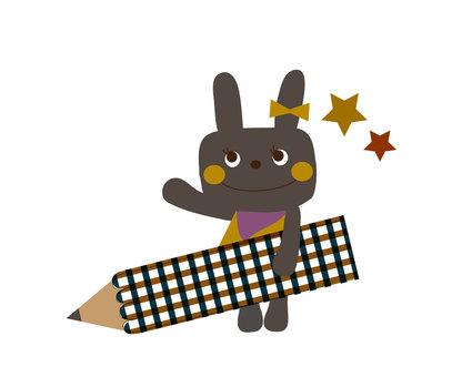 Black rabbit pencil