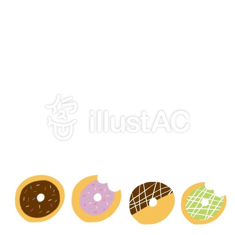 ドーナツ イラスト かわいい