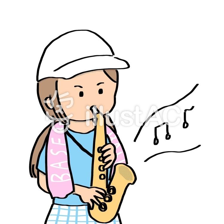 高校野球・吹奏楽の応援・可愛い手描きのイラスト