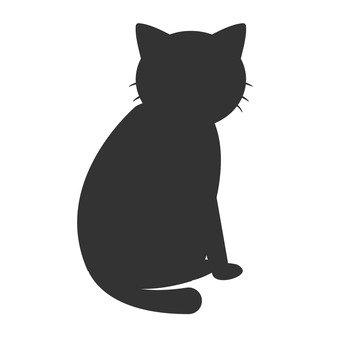 Sitting cat silhouette