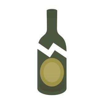 Broken bottle, brown