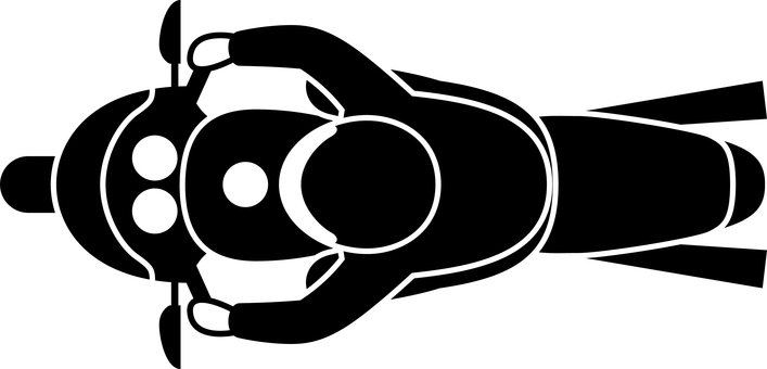 Transportation motorcycle icon mark top view