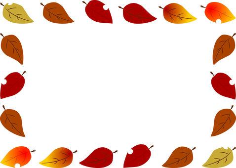 flame. Autumn leaves