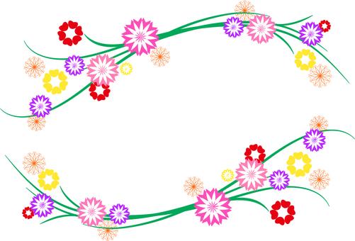 꽃 무늬 프레임 프레임