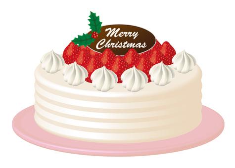Christmas cake strawberry cake 2