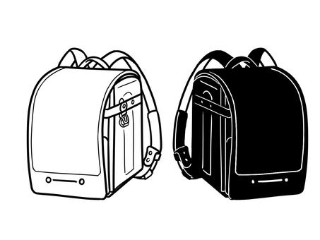 School bag monochrome