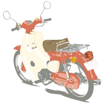 오토바이 자전거 레드