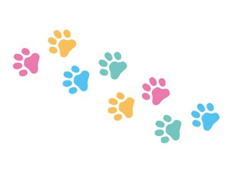Colorful footprint