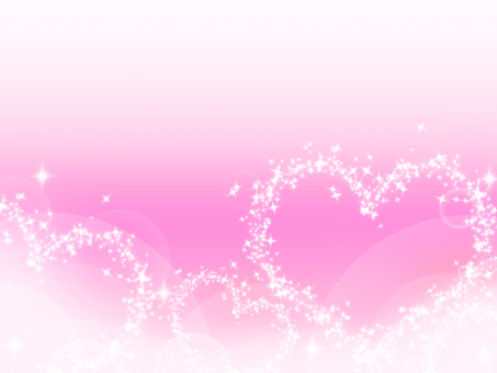 Glittering heart on pink background