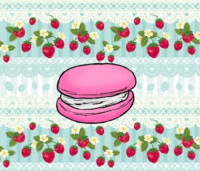 Macaron with background
