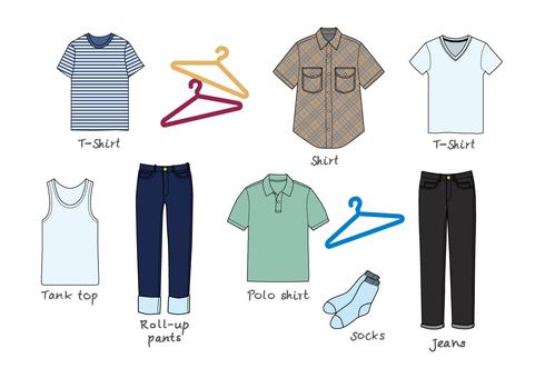 Changing clothes tag [male summer clothes]