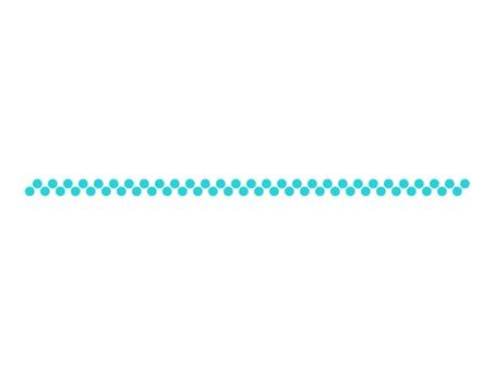 Blue dot line (2 rows)