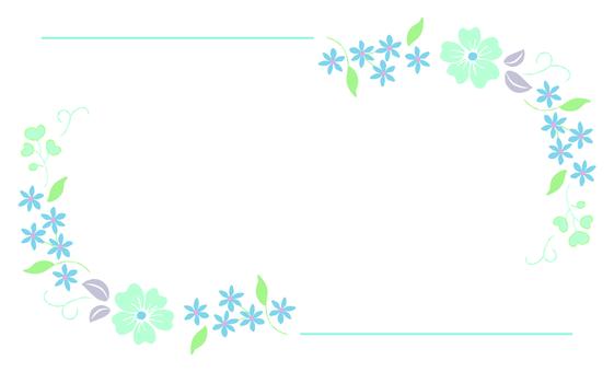 꽃 프레임 파랑