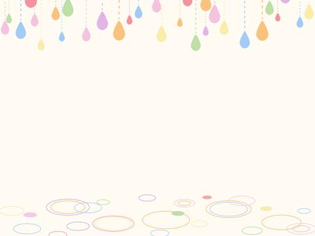 雨粒のフレーム3