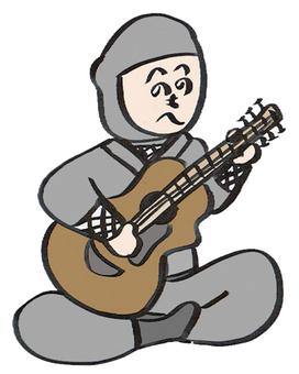 Ninja playing the guitar
