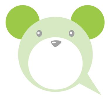 Bear balloon _ green