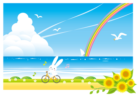 Run the bike on the beach