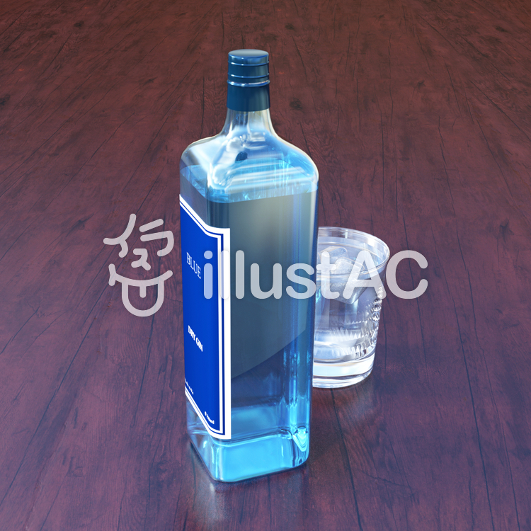 ブルー ドライ・ジンのイラスト