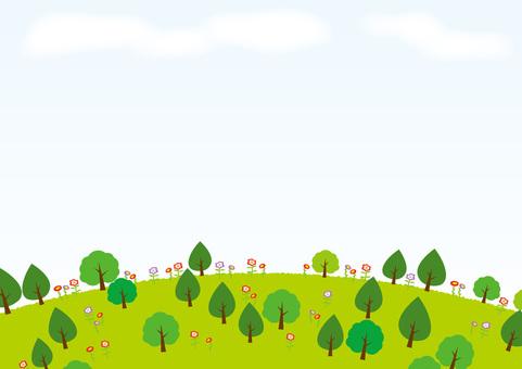 森林背景材料