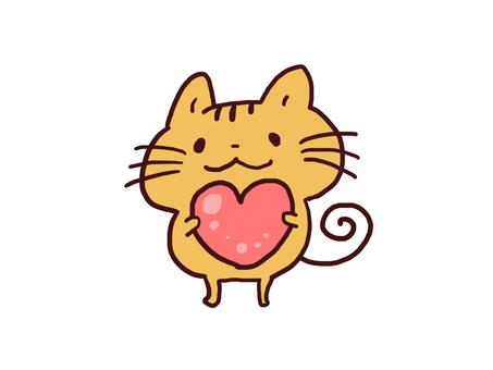 【Handwritten】 Cat illustration 【Pop】