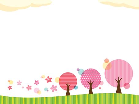 Cherry blossom view illustration (2)