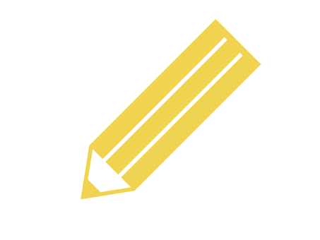 Pencil stationery writing instrument yellow