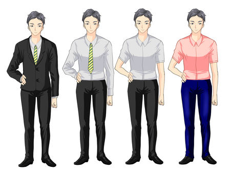 Male standing picture 4 patterns