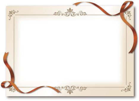 Frame luxury ribbon copper