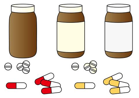 Medicine · capsule · medicine bottle