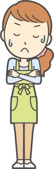 圍裙青年長發-024-全身