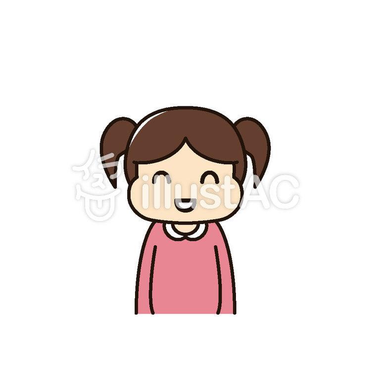 女の子 笑顔イラスト No 952859無料イラストならイラストac