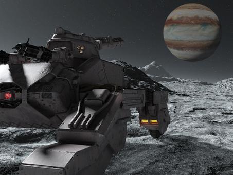 惑星上の戦車とジュピター