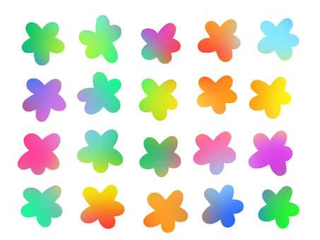 Watercolor style rainbow 【flower】