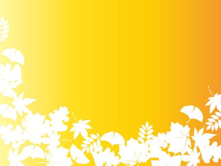 Fallen leaf silhouette background 2 (ver.10)