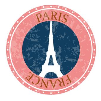 Paris travel label