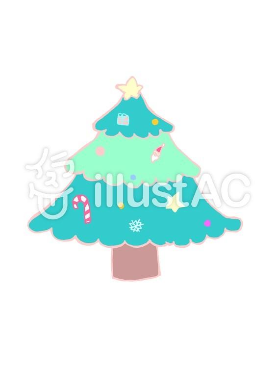 クリスマスツリー01のイラスト