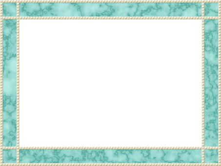裝飾藝術薄荷大理石畫框珍珠