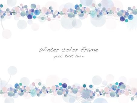 Winter color frame ver 05