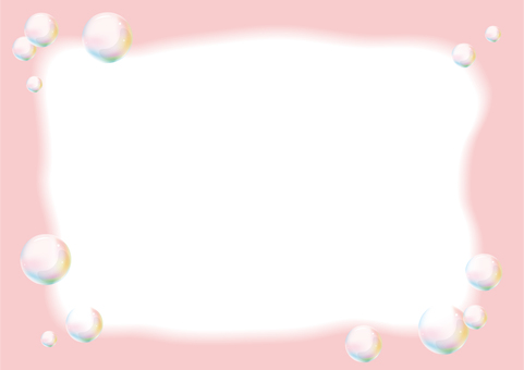 Soap bubble frame